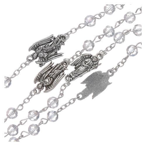 Chapelet cristal transparent Archanges grains 6 mm 3