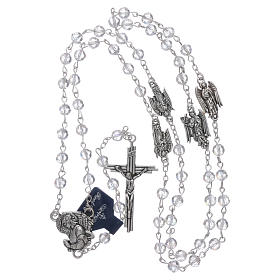 Rosary beads in transparent crystal Archangels, 6mm s4
