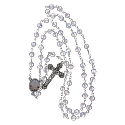 Rosario Fatima grani cristallo trasparente 6 mm 4