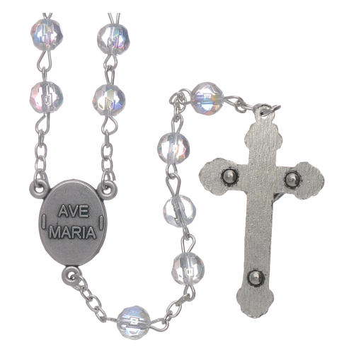Our Lady of Fatima rosary trasparent crystal 6mm beads 2