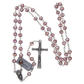 Rosary in amethyst crystal and oxidised metal s4