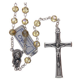 Rosary in gold crystal and oxidised metal s1