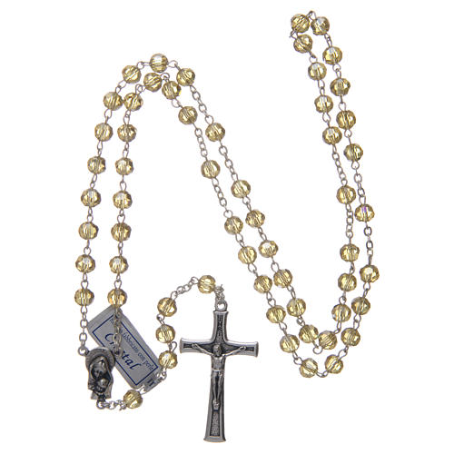 Rosary in gold crystal and oxidised metal 4