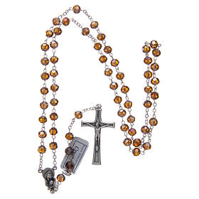 Rosary in smoky grey crystal and oxidised metal s4