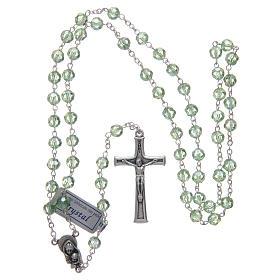 Rosario in cristallo verde e metallo ossidato s4