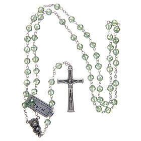 Rosary in green crystal and oxidised metal s4