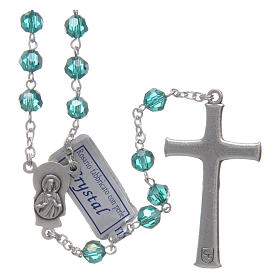 Rosary in emerald crystal and oxidised metal s2