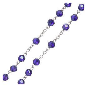 Chapelet en cristal bleu métal oxydé s3