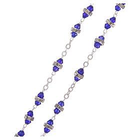 Rosario mezzo cristallo 6x3 mm blu s3