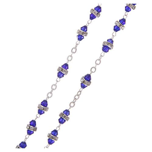 Rosario mezzo cristallo 6x3 mm blu 3