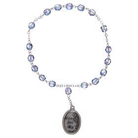 Chapelet semi-cristal Sainte Anne 3 mm bleu clair s2