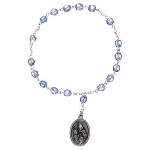 Coroncina Sant'Anna 3 mm mezzo cristallo celeste 1