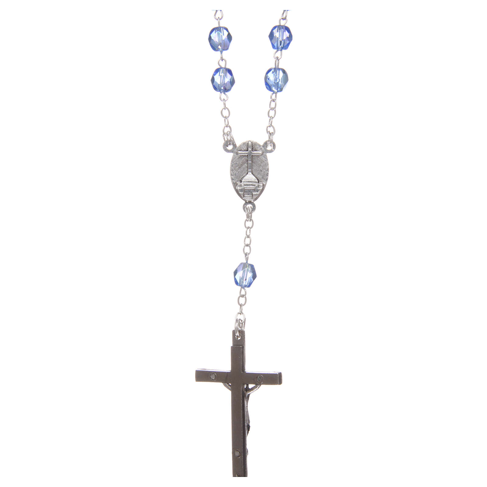 Rosary round faceted crystal beads 4 mm Medjugorje 4