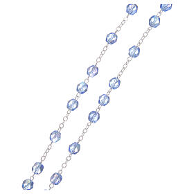 Rosary round faceted crystal beads 4 mm Medjugorje s3