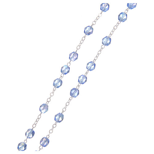 Rosary round faceted crystal beads 4 mm Medjugorje 3