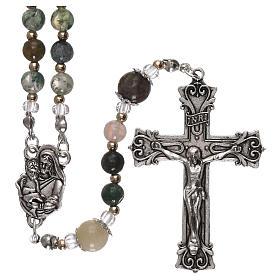 Rosari vetro: Rosario vetro con perline variegate