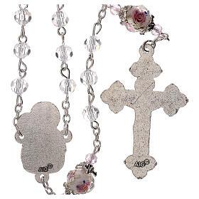 Rosario Virgen Jesús niño perla decorada cristal transparente 3 mm s2