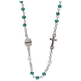 Rosario girocollo Madonna Guadalupe vero cristallo 3 mm s2