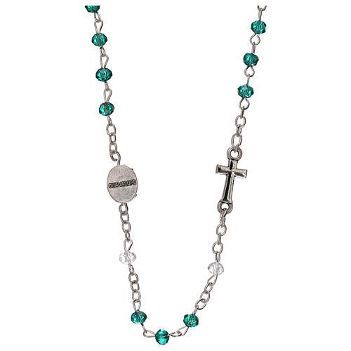 Rosario girocollo Madonna Guadalupe vero cristallo 3 mm 2
