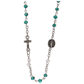 Rosary choker Our Lady of Guadalupe real crystal 3 mm s1