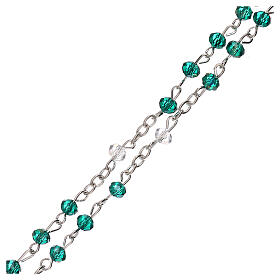 Rosary choker Our Lady of Guadalupe real crystal 3 mm s3