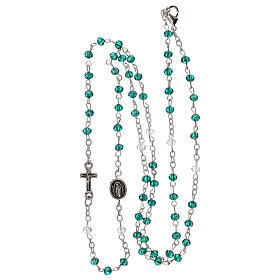 Rosary choker Our Lady of Guadalupe real crystal 3 mm s4