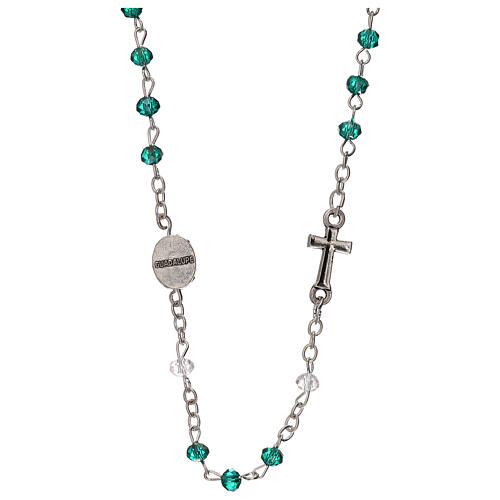 Rosary choker Our Lady of Guadalupe real crystal 3 mm