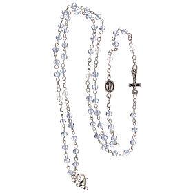 Rosario girocollo Madonna di Fatima vero cristallo 3 mm s4