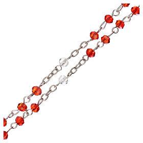 Rosario girocollo Santa Famiglia vero cristallo 3 mm s3