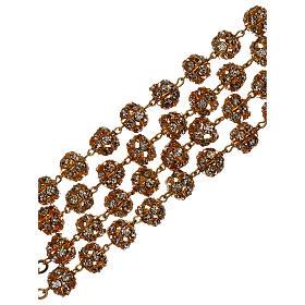 Rosario boda dorado granos cristal 5 mm s4