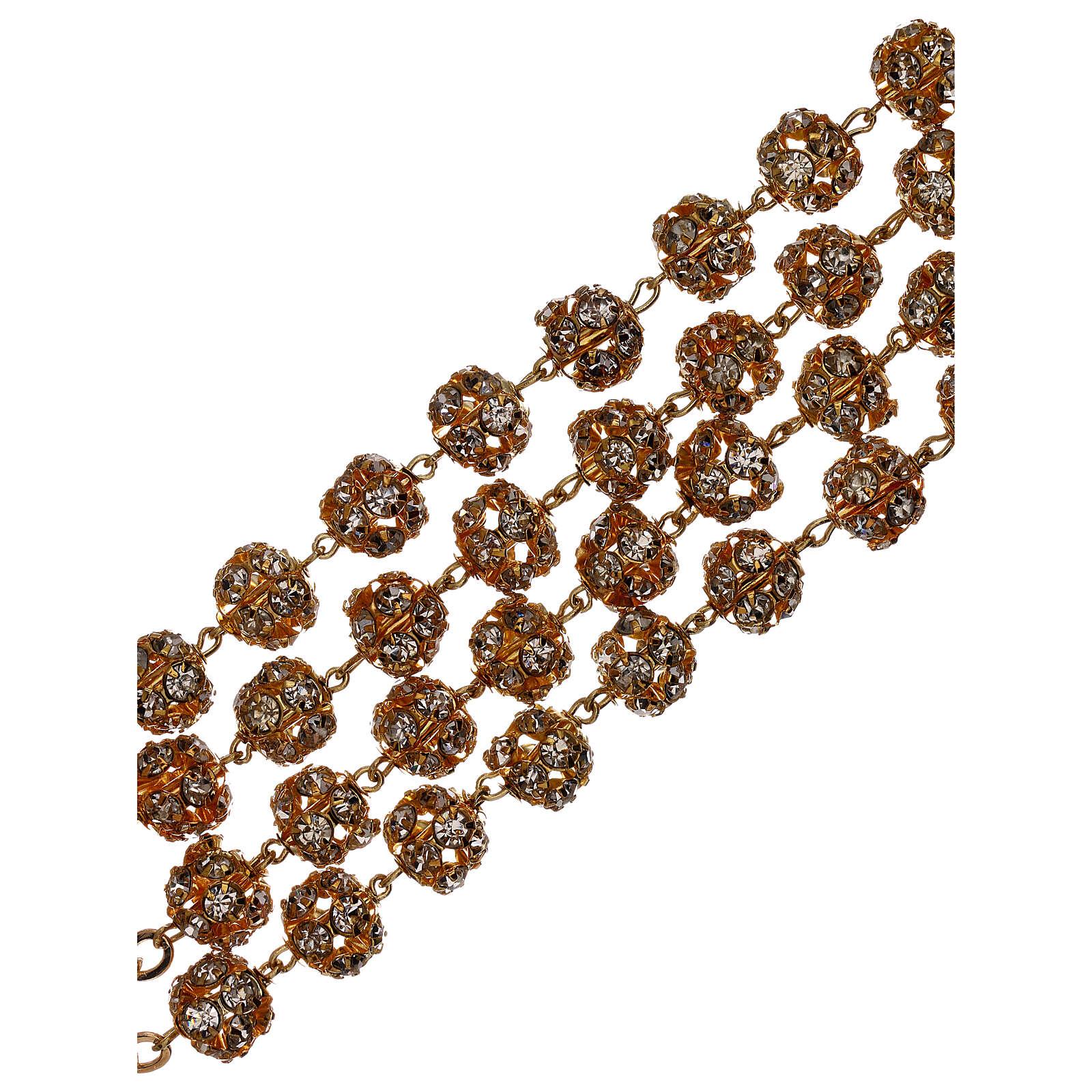 Chapelet mariage doré grains cristal 5 mm 4