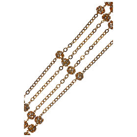 Chapelet mariage doré grains cristal 5 mm s3