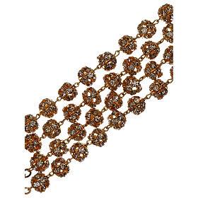 Chapelet mariage doré grains cristal 5 mm s4