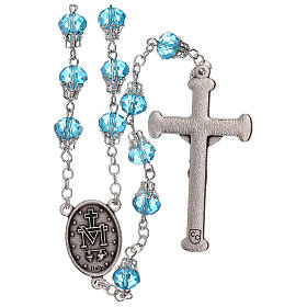 Rosary with glossy light blue beads 7 mm s2