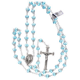 Rosary with glossy light blue beads 7 mm s4