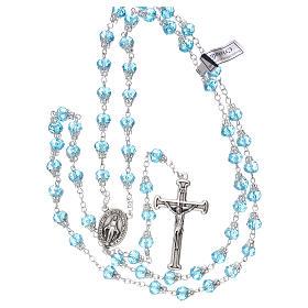 Chapelet bleu clair brillant cristal grains 5 mm s4