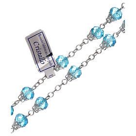 Rosario azzurro lucido cristallo grani 5 mm s3
