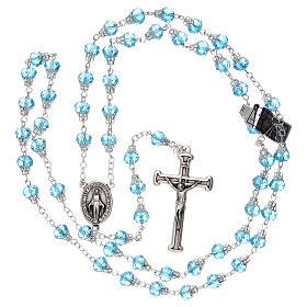 Rosario azzurro lucido cristallo grani 5 mm s5
