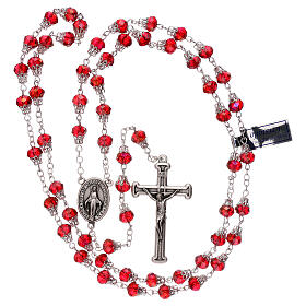 Rosary with glossy red beads 7 mm s4