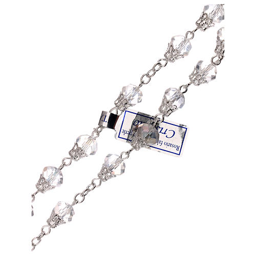 Rosario transparente lúcido cristal granos 5 mm 3