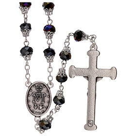 Rosary with glossy purple beads 5 mm s2