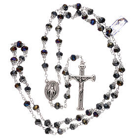 Rosary with glossy purple beads 5 mm s4