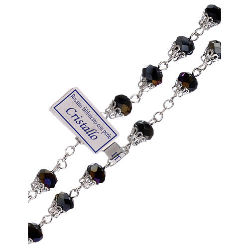 Rosary with glossy purple beads 5 mm 3