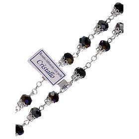 Rosario lúcido violeta cristal granos 5 mm s3