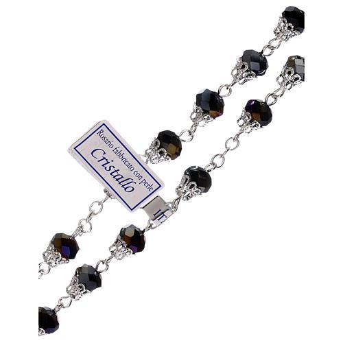 Rosario lúcido violeta cristal granos 5 mm 3
