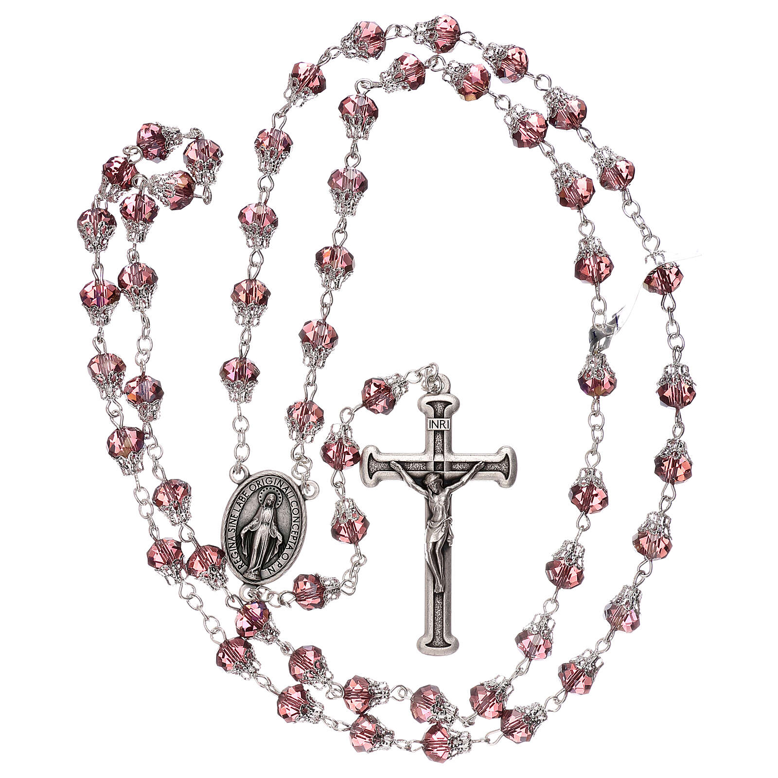 Rosary with glossy lilac beads 5 mm 4