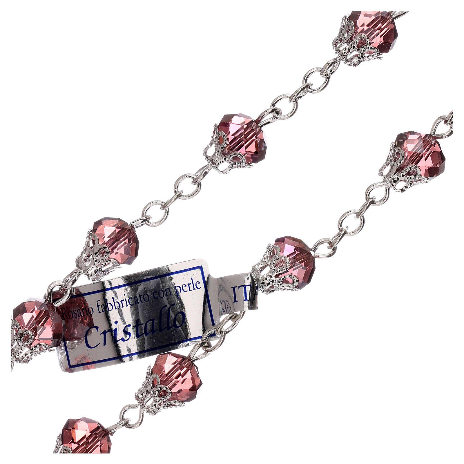 Rosario lila cristal lúcido granos 5 mm 4