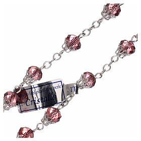 Rosario lila cristal lúcido granos 5 mm s3