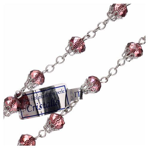 Rosario lila cristal lúcido granos 5 mm 3