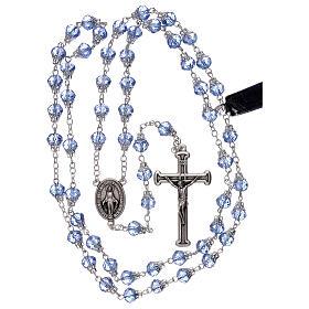 Rosario lúcido cristal azul granos 5 mm s4